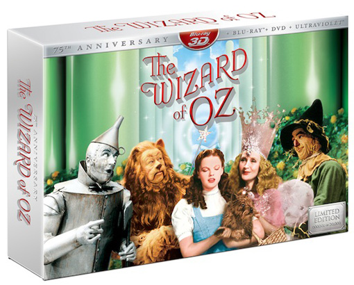 The Wizard of Oz 3D blu ray
